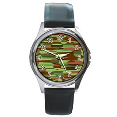 Green and Brown Spheres by Khoncepts.com Round Metal Watch