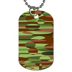 Green and Brown Spheres by Khoncepts.com Dog Tag (One Side)