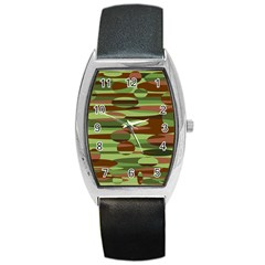 Green and Brown Spheres by Khoncepts.com Barrel Style Metal Watch