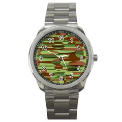 Green and Brown Spheres by Khoncepts.com Sport Metal Watch