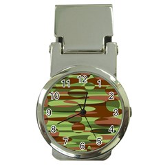 Green and Brown Spheres by Khoncepts.com Money Clip Watch