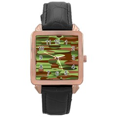 Green And Brown Spheres By Khoncepts Com Rose Gold Leather Watch