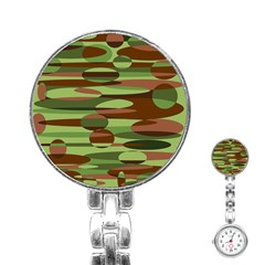 Green and Brown Spheres by Khoncepts.com Stainless Steel Nurses Watch