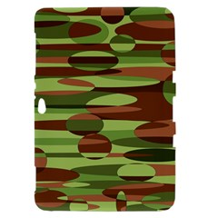 Green and Brown Spheres by Khoncepts.com Samsung Galaxy Tab 8.9  P7300 Hardshell Case