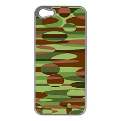 Green and Brown Spheres by Khoncepts.com Apple iPhone 5 Case (Silver)