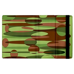 Green and Brown Spheres by Khoncepts.com Apple iPad 3/4 Flip Case