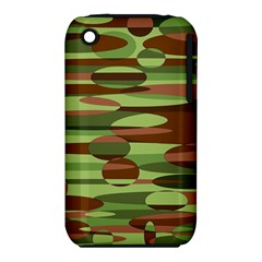 Green and Brown Spheres by Khoncepts.com Apple iPhone 3G/3GS Hardshell Case (PC+Silicone)