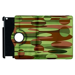 Green and Brown Spheres by Khoncepts.com Apple iPad 3/4 Flip 360 Case