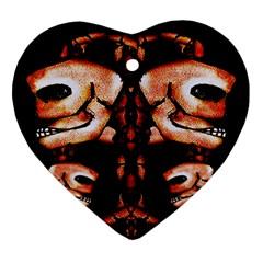 Skull Motif Ornament Heart Ornament