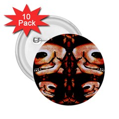 Skull Motif Ornament 2.25  Button (10 pack)