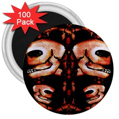 Skull Motif Ornament 3  Button Magnet (100 pack)