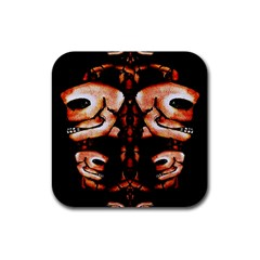 Skull Motif Ornament Drink Coasters 4 Pack (Square)
