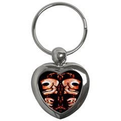 Skull Motif Ornament Key Chain (Heart)
