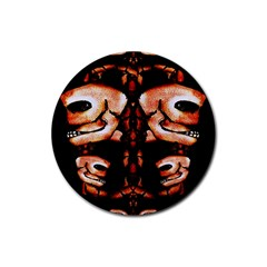 Skull Motif Ornament Drink Coaster (Round)