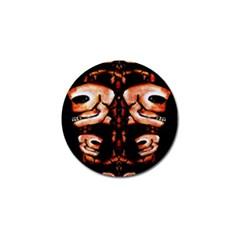 Skull Motif Ornament Golf Ball Marker 4 Pack