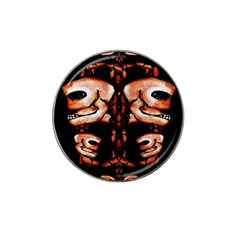 Skull Motif Ornament Golf Ball Marker 4 Pack (for Hat Clip)
