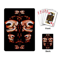 Skull Motif Ornament Playing Cards Single Design