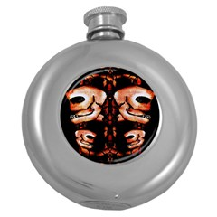 Skull Motif Ornament Hip Flask (Round)