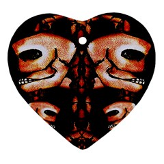 Skull Motif Ornament Heart Ornament (Two Sides)