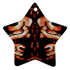 Skull Motif Ornament Star Ornament (two Sides)