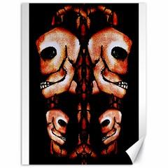Skull Motif Ornament Canvas 18  X 24  (unframed)