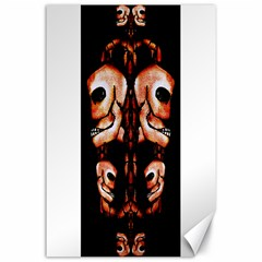 Skull Motif Ornament Canvas 24  X 36  (unframed)