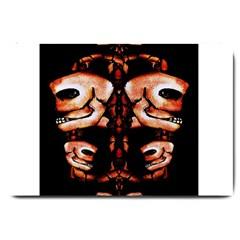 Skull Motif Ornament Large Door Mat
