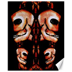 Skull Motif Ornament Canvas 11  x 14  (Unframed)