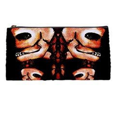 Skull Motif Ornament Pencil Case