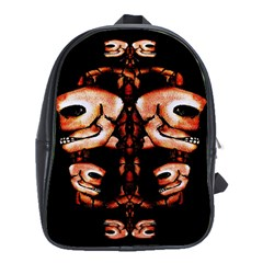 Skull Motif Ornament School Bag (large)