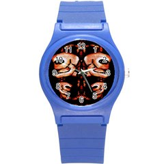 Skull Motif Ornament Plastic Sport Watch (Small)