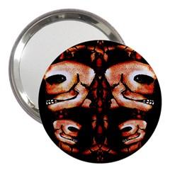 Skull Motif Ornament 3  Handbag Mirror