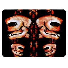 Skull Motif Ornament Samsung Galaxy Tab 7  P1000 Flip Case