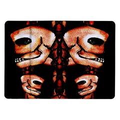 Skull Motif Ornament Samsung Galaxy Tab 10.1  P7500 Flip Case