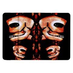 Skull Motif Ornament Samsung Galaxy Tab 8.9  P7300 Flip Case