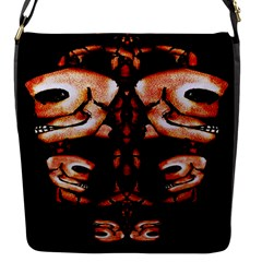 Skull Motif Ornament Flap Closure Messenger Bag (Small)