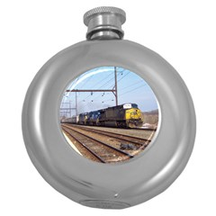 The Circus Train Hip Flask (Round)