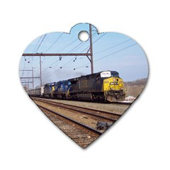 The Circus Train Dog Tag Heart (Two Sided)