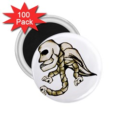 Angel Skull 2 25  Button Magnet (100 Pack)