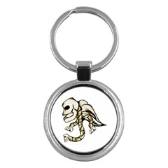 Angel Skull Key Chain (round)