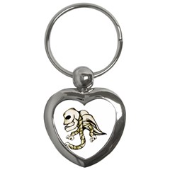 Angel Skull Key Chain (heart)