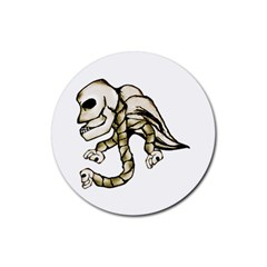 Angel Skull Drink Coaster (Round)