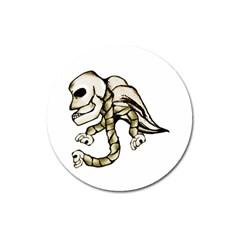 Angel Skull Magnet 3  (Round)