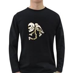 Angel Skull Men s Long Sleeve T-shirt (Dark Colored)