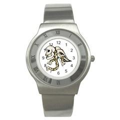 Angel Skull Stainless Steel Watch (slim)