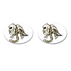 Angel Skull Cufflinks (Oval)