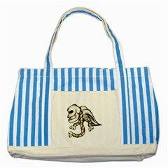 Angel Skull Blue Striped Tote Bag