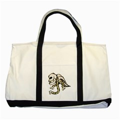 Angel Skull Two Toned Tote Bag