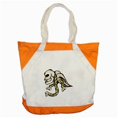 Angel Skull Accent Tote Bag