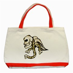 Angel Skull Classic Tote Bag (Red)